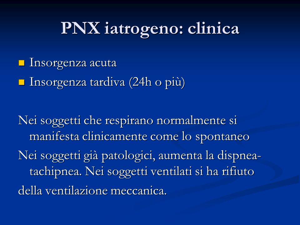 PNX iatrogeno: clinica