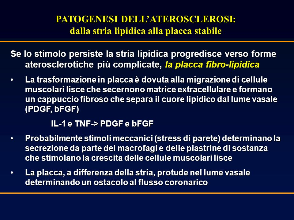 PATOGENESI DELL'ATEROSCLEROSI: