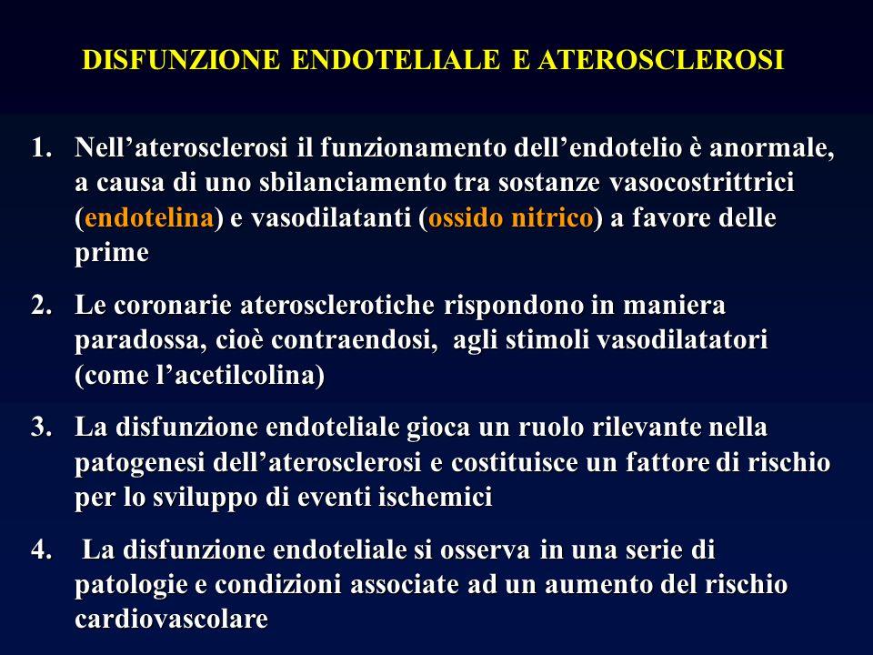 DISFUNZIONE ENDOTELIALE E ATEROSCLEROSI