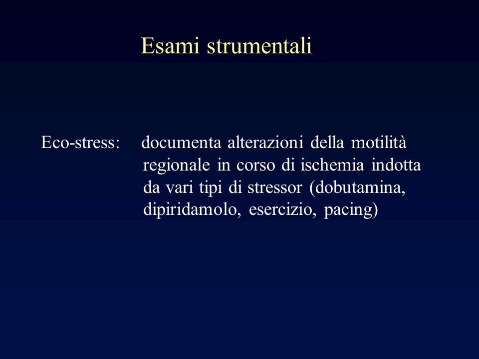 Esami strumentali Eco-stress: documenta alterazioni della motilità