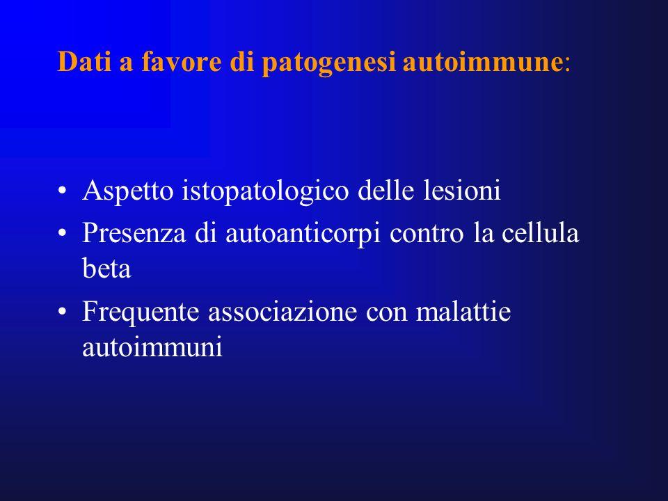 Dati a favore di patogenesi autoimmune: