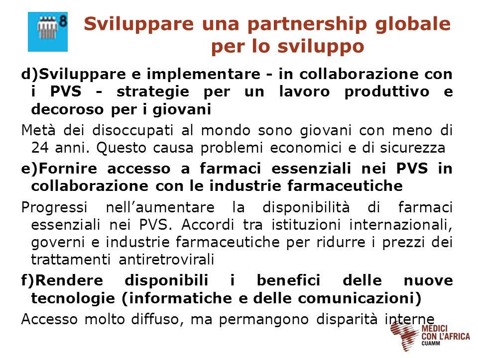 Sviluppare una partnership globale per lo sviluppo