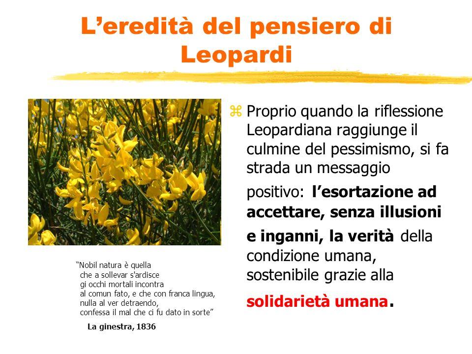L'eredità del pensiero di Leopardi