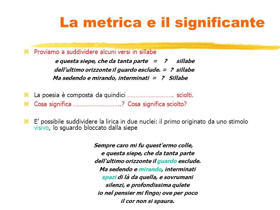 La metrica e il significante