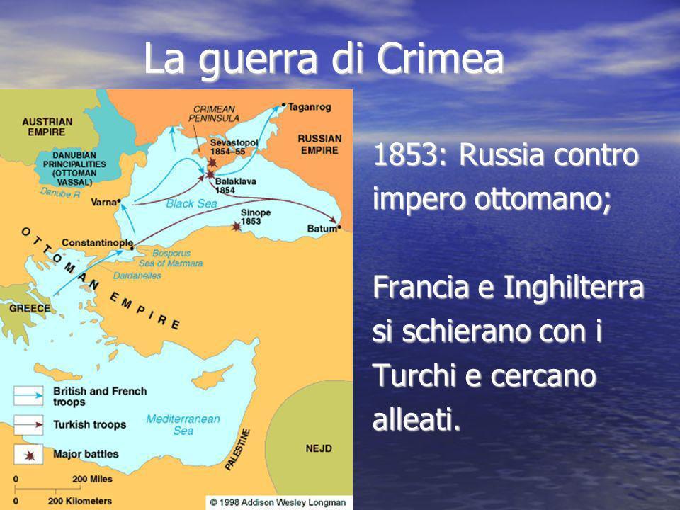 La guerra di Crimea 1853: Russia contro impero ottomano;