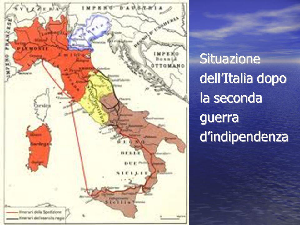 Situazione dell'Italia dopo la seconda guerra d'indipendenza