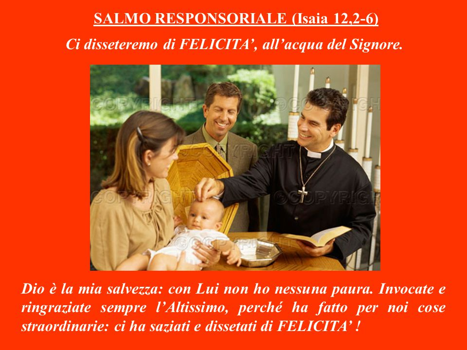 SALMO RESPONSORIALE (Isaia 12,2-6)