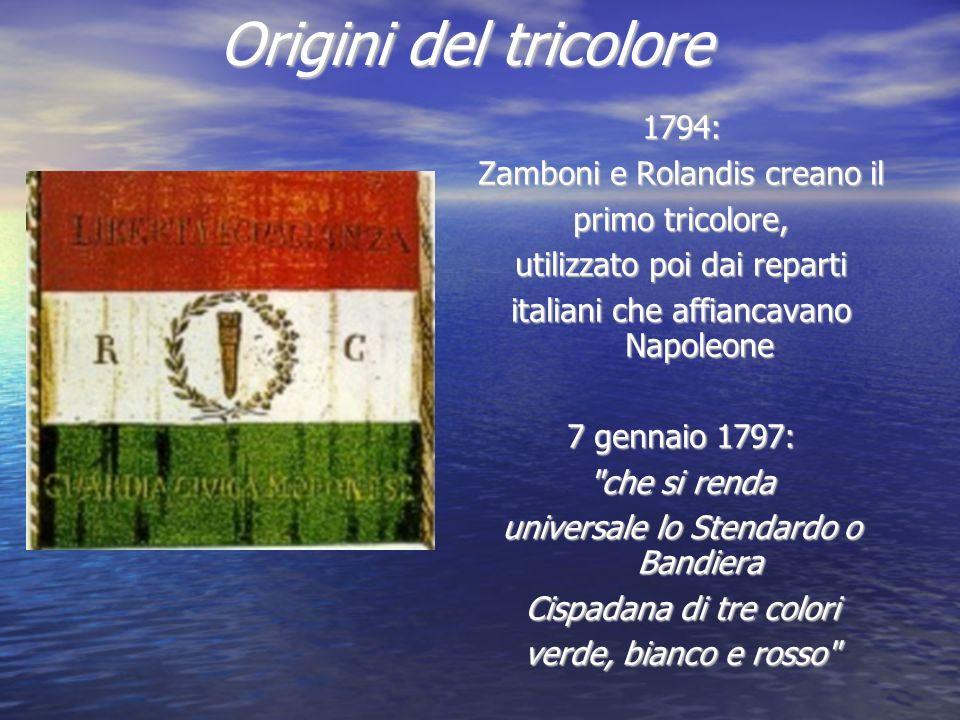 Origini del tricolore 1794: Zamboni e Rolandis creano il