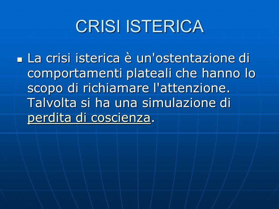 CRISI ISTERICA