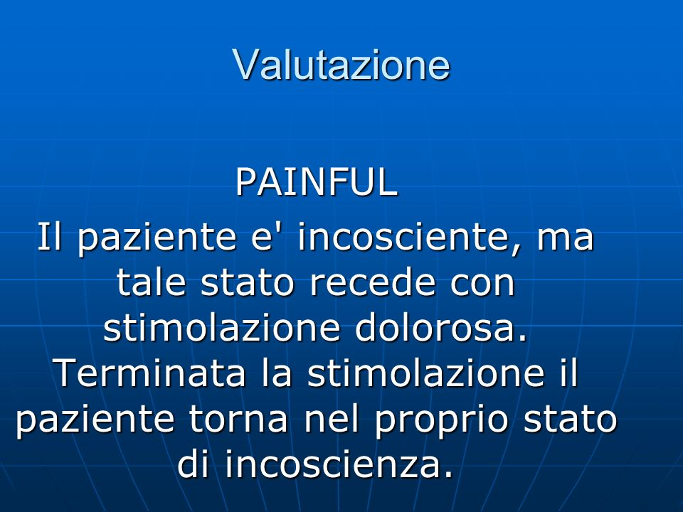 Valutazione PAINFUL.