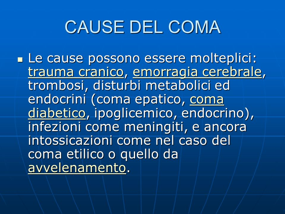 CAUSE DEL COMA