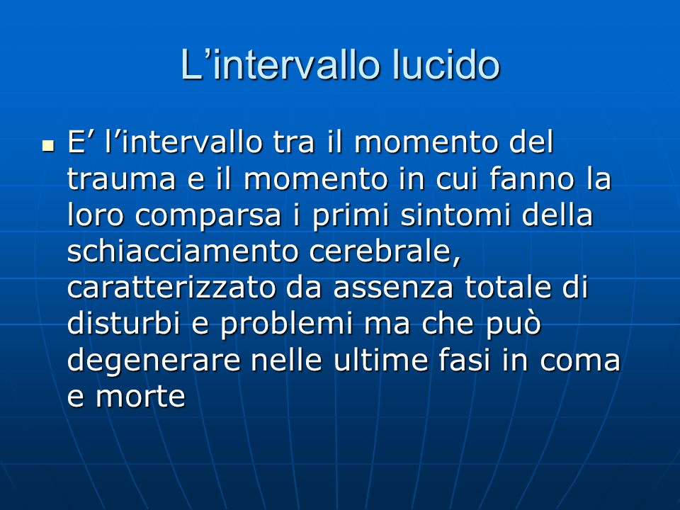 L'intervallo lucido