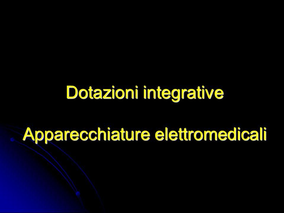 Dotazioni integrative Apparecchiature elettromedicali