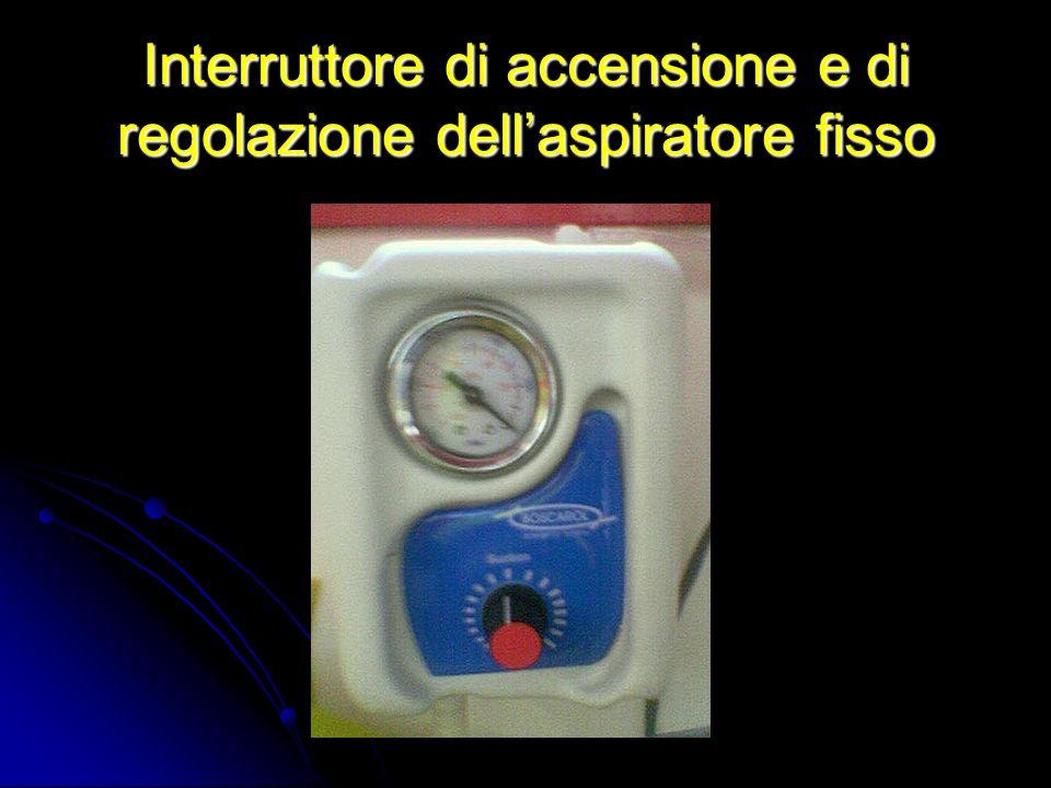 Interruttore di accensione e di regolazione dell'aspiratore fisso