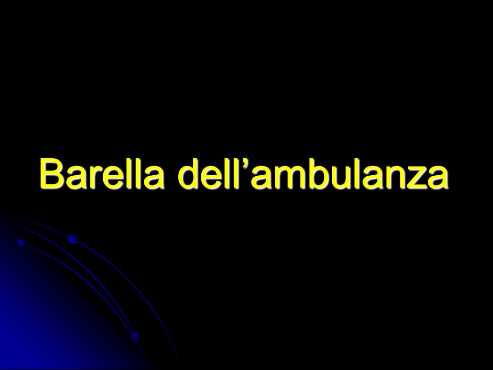 Barella dell'ambulanza
