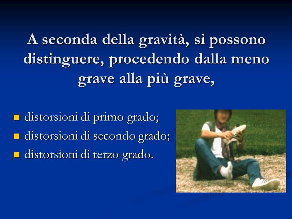 A seconda della gravità, si possono distinguere, procedendo dalla meno grave alla più grave,