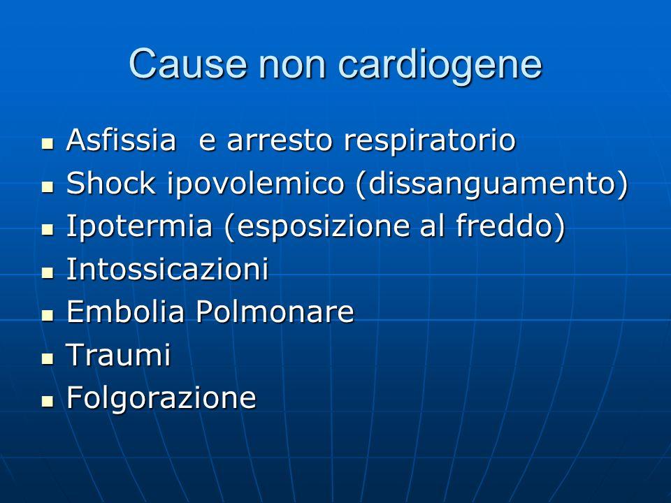 Cause non cardiogene Asfissia e arresto respiratorio