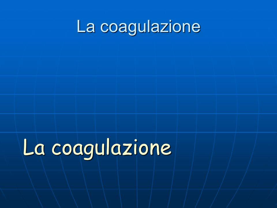 La coagulazione La coagulazione
