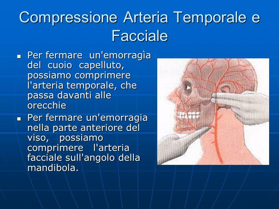 Compressione Arteria Temporale e Facciale