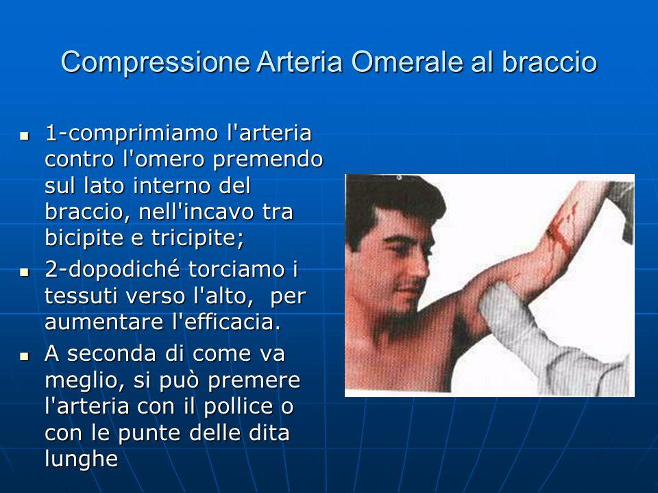 Compressione Arteria Omerale al braccio