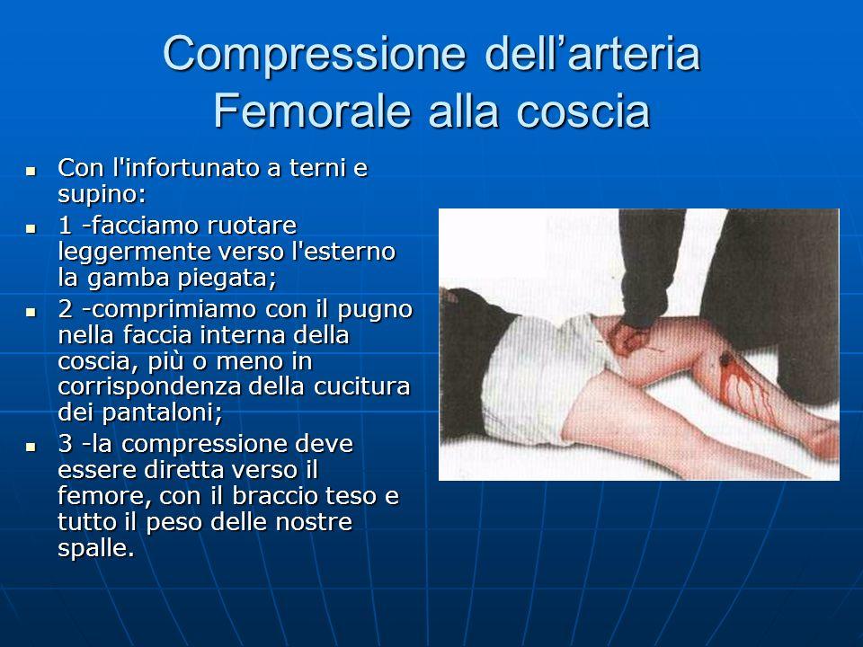Compressione dell'arteria Femorale alla coscia