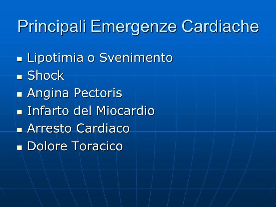 Principali Emergenze Cardiache