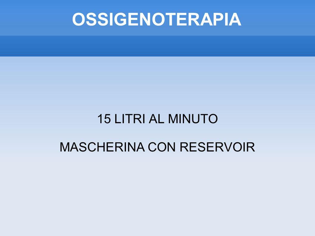 15 LITRI AL MINUTO MASCHERINA CON RESERVOIR