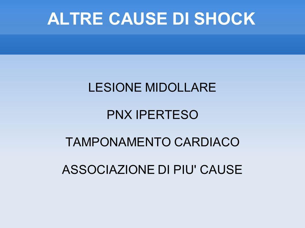 ALTRE CAUSE DI SHOCK LESIONE MIDOLLARE PNX IPERTESO