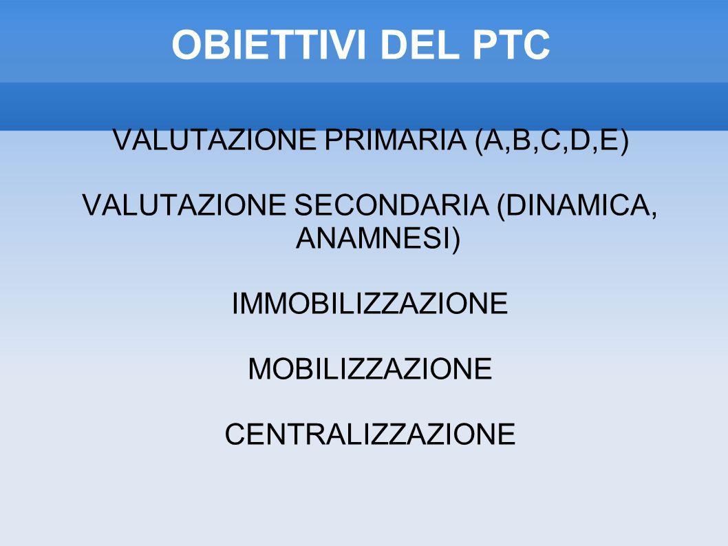 OBIETTIVI DEL PTC VALUTAZIONE PRIMARIA (A,B,C,D,E)