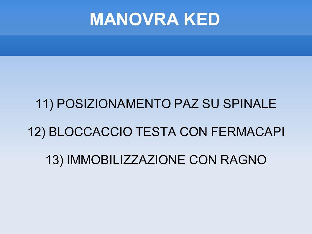 MANOVRA KED 11) POSIZIONAMENTO PAZ SU SPINALE
