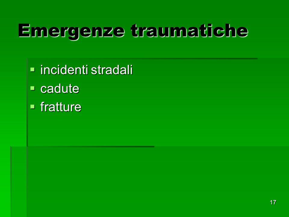 Emergenze traumatiche