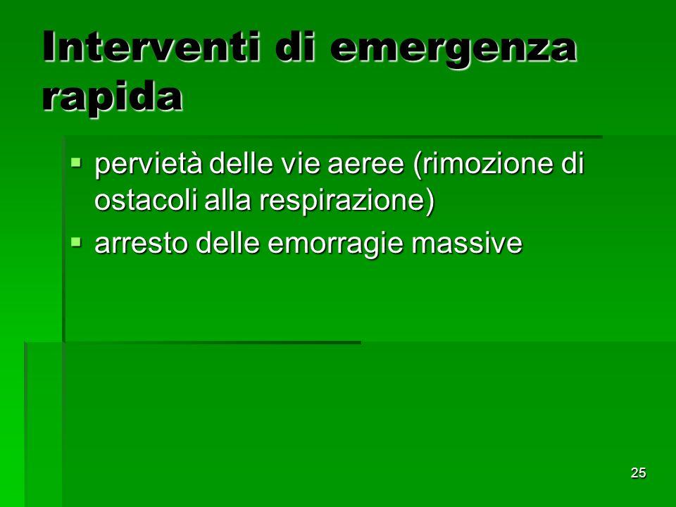 Interventi di emergenza rapida