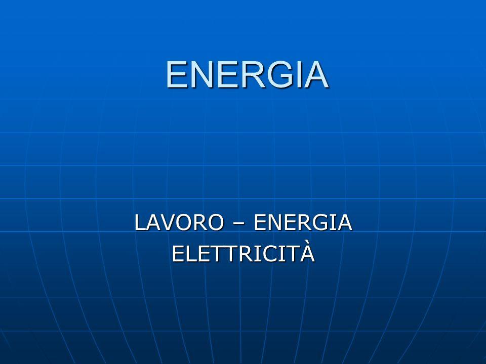 LAVORO – ENERGIA ELETTRICITÀ