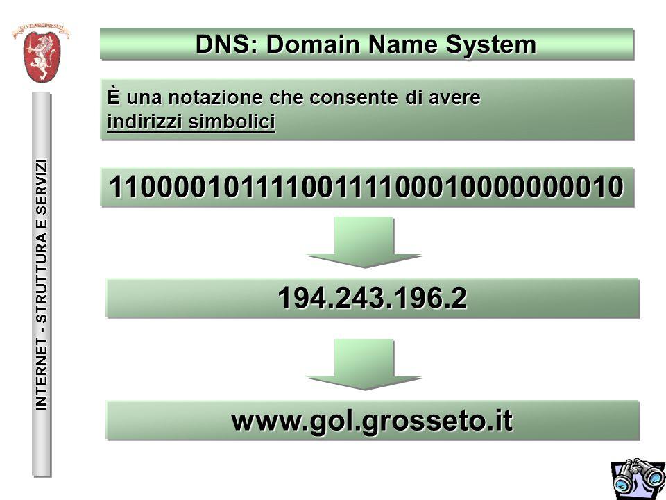 INTERNET - STRUTTURA E SERVIZI