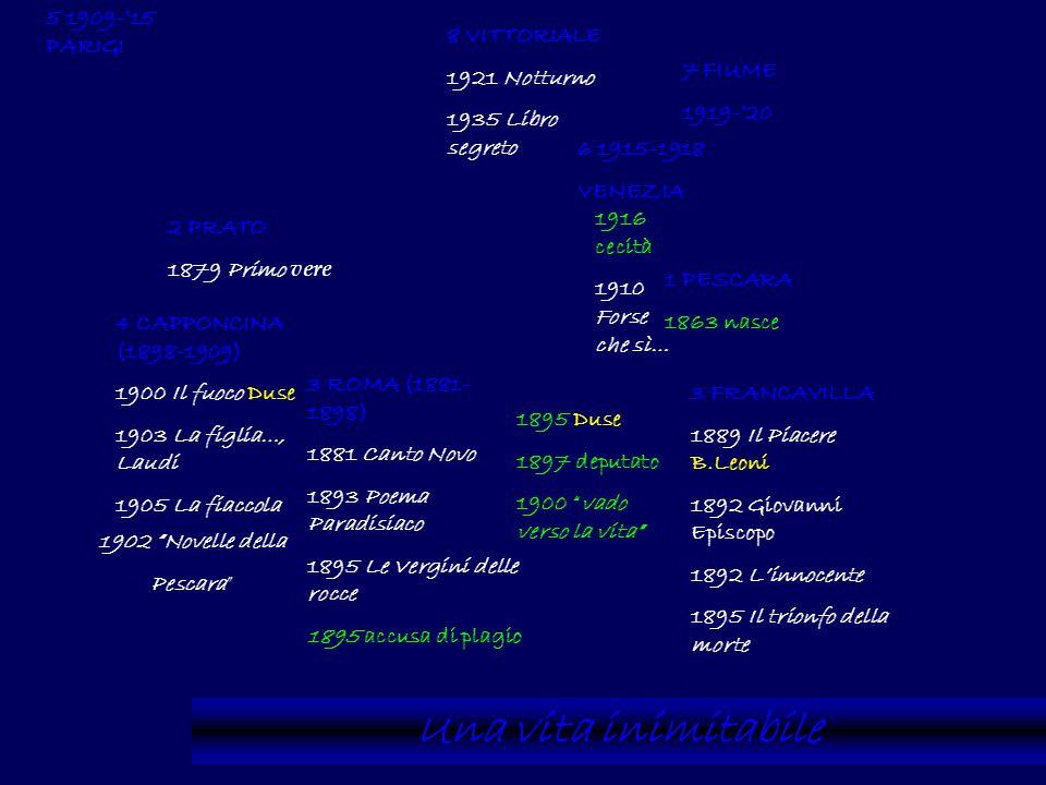 Una vita inimitabile 5 1909-'15 PARIGI 8 VITTORIALE 1921 Notturno