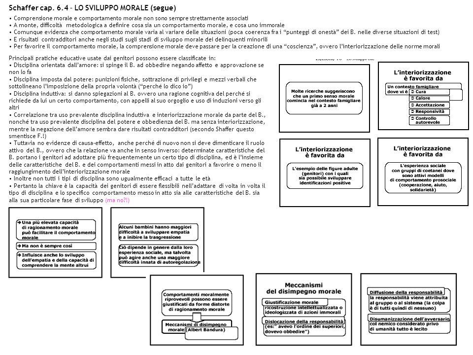 Schaffer cap. 6.4 – LO SVILUPPO MORALE (segue)