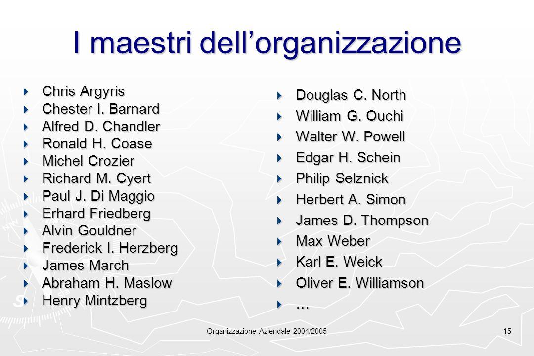 I maestri dell'organizzazione