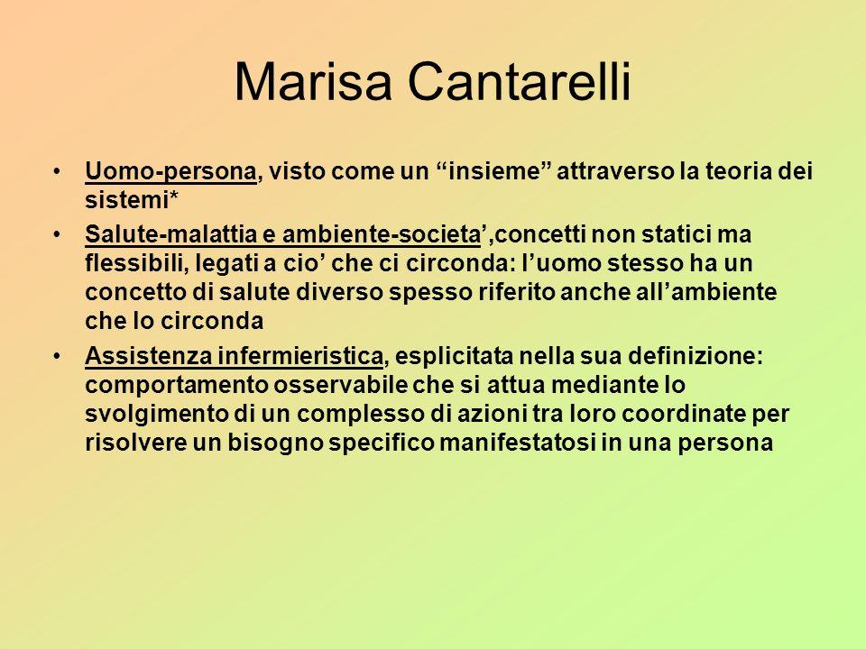 Marisa Cantarelli Uomo-persona, visto come un insieme attraverso la teoria dei sistemi*
