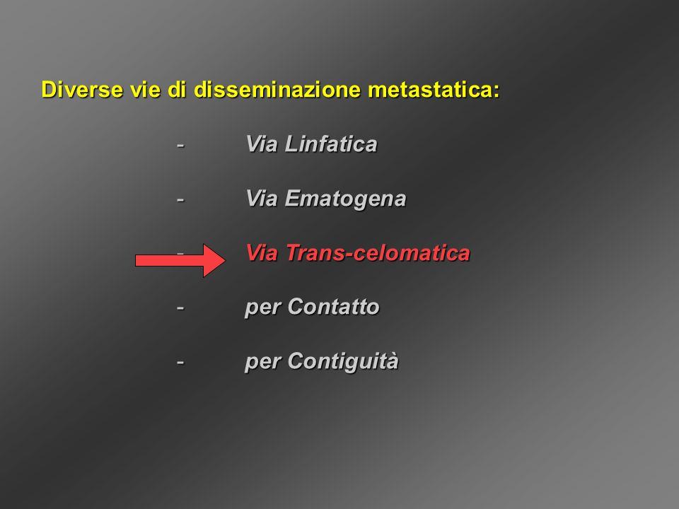 Diverse vie di disseminazione metastatica: