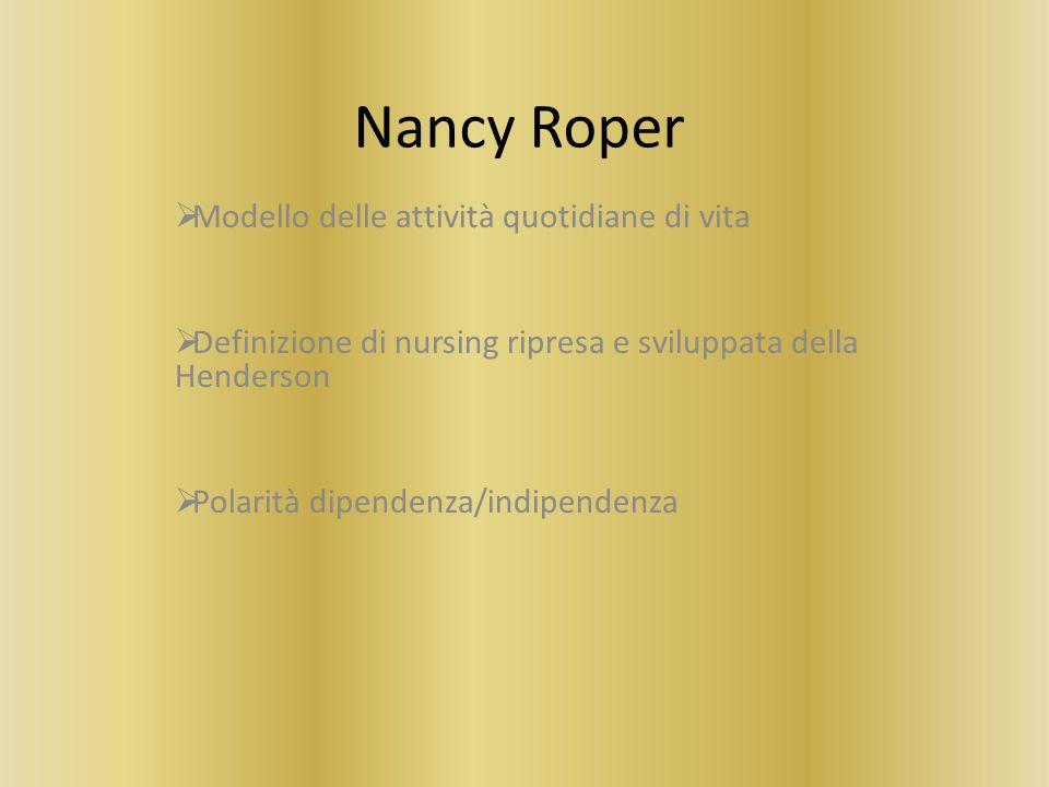 Nancy Roper Modello delle attività quotidiane di vita
