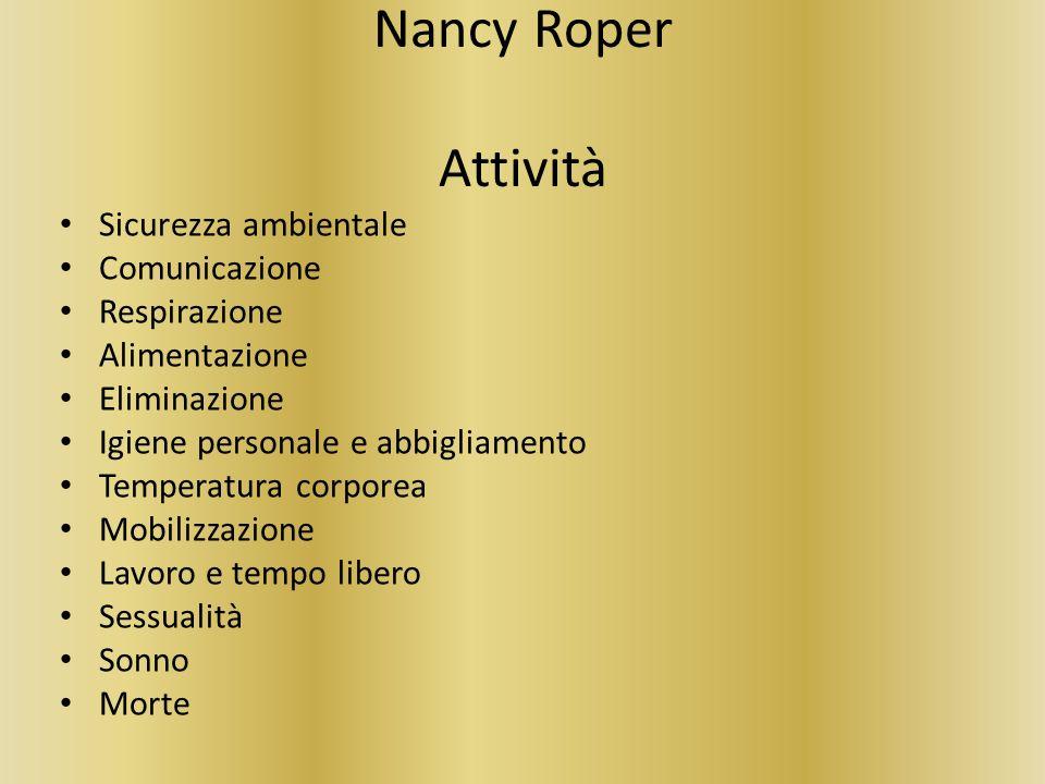 Nancy Roper Attività Sicurezza ambientale Comunicazione Respirazione