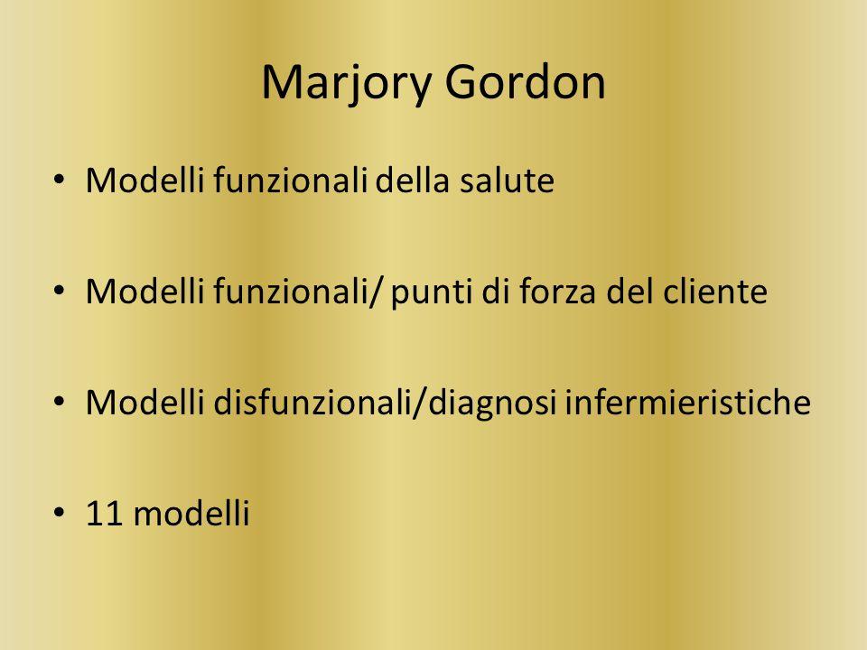 Marjory Gordon Modelli funzionali della salute