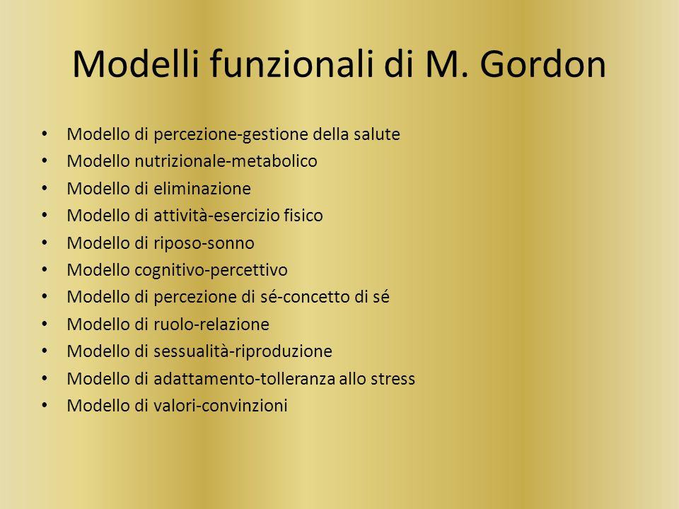 Modelli funzionali di M. Gordon