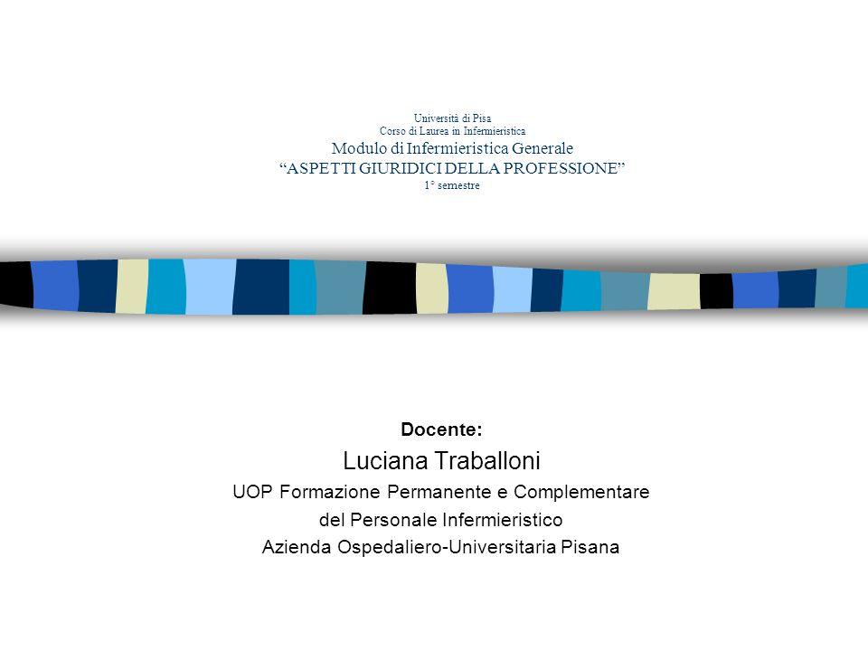 Luciana Traballoni Docente: UOP Formazione Permanente e Complementare