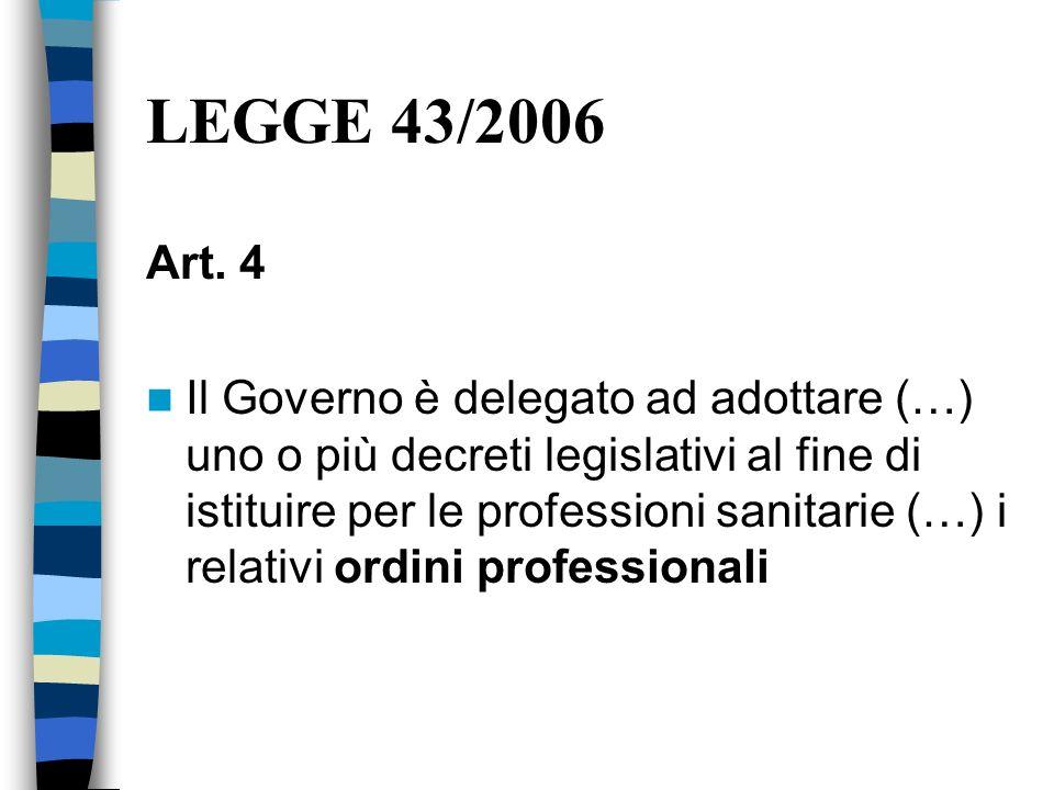 LEGGE 43/2006 Art. 4.