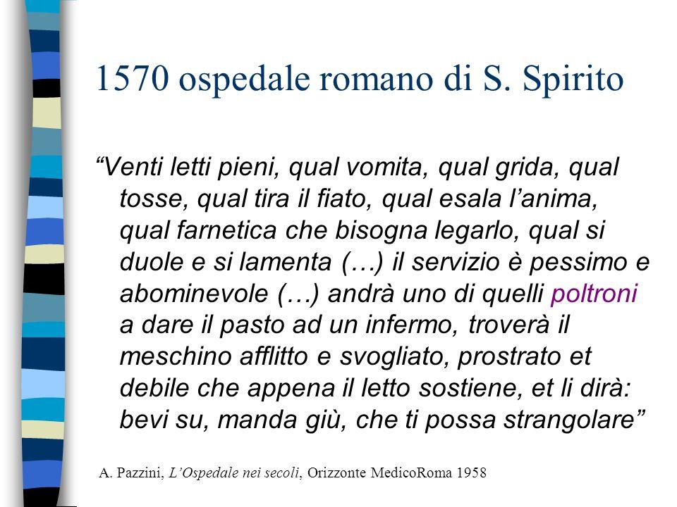 1570 ospedale romano di S. Spirito