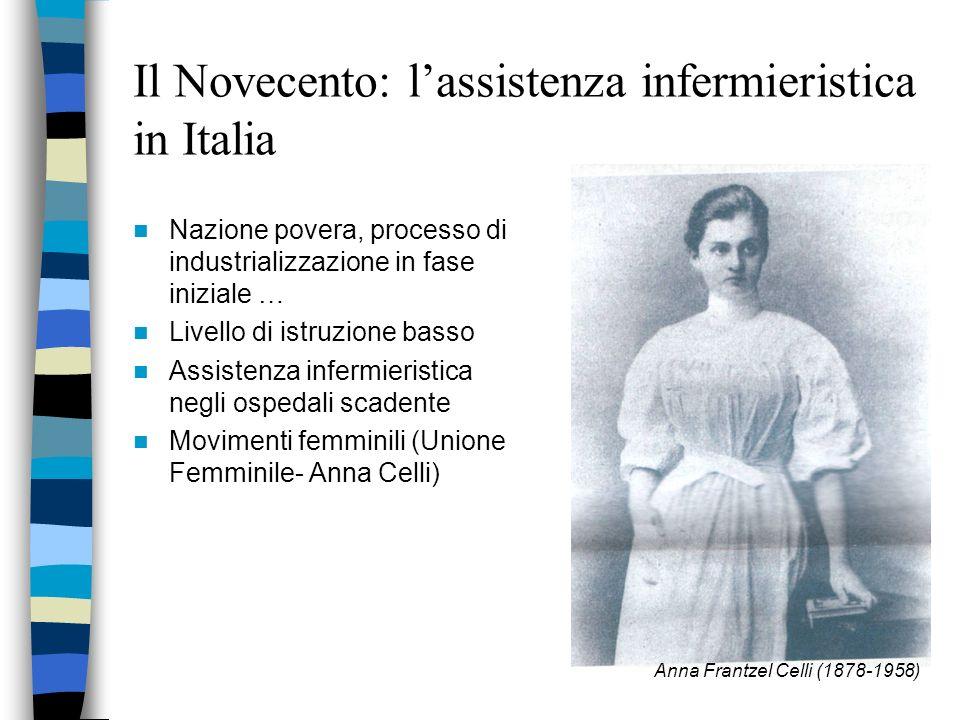 Il Novecento: l'assistenza infermieristica in Italia