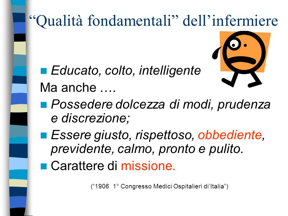 Qualità fondamentali dell'infermiere