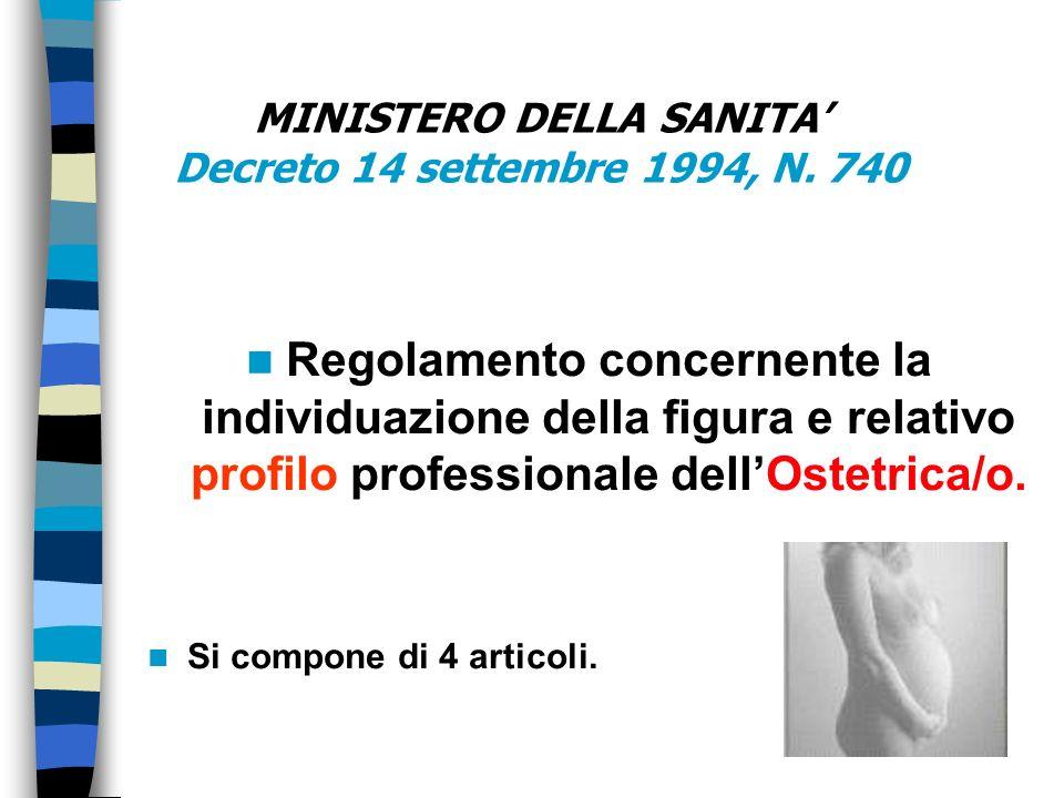 MINISTERO DELLA SANITA' Decreto 14 settembre 1994, N. 740