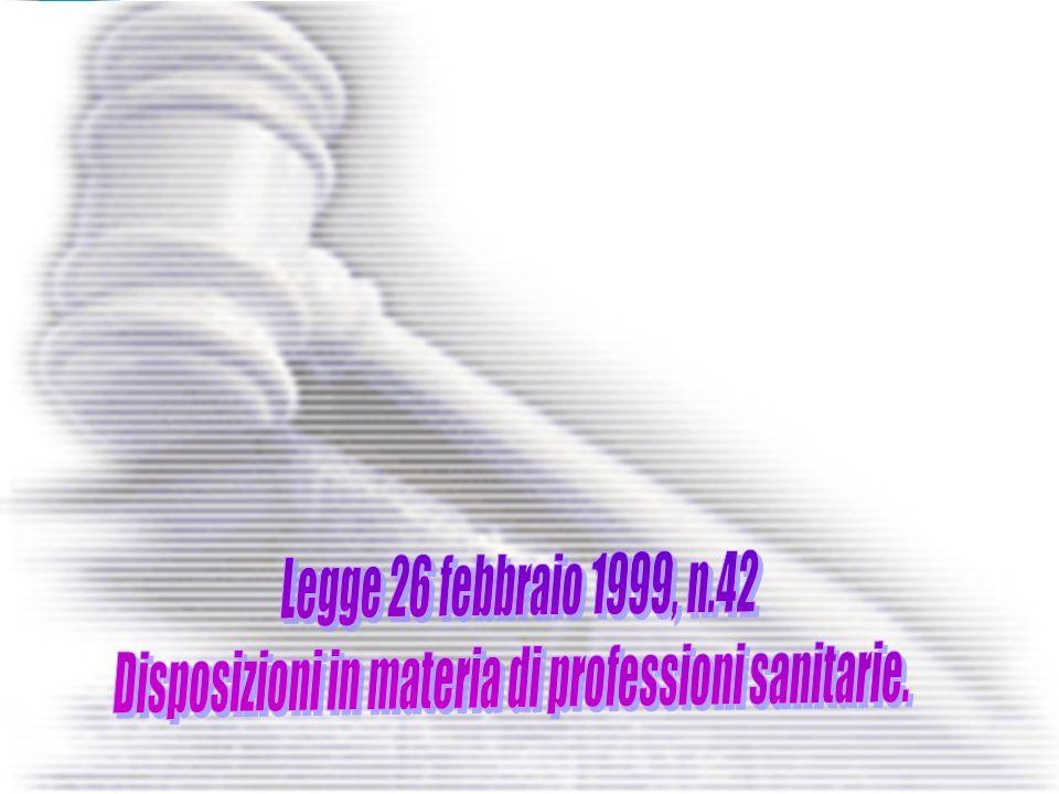Disposizioni in materia di professioni sanitarie.